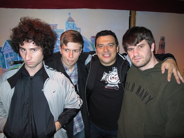 L to R: Donny Divanian, Chris Thayer, Carlos Mencia, Jesse Fernandez. Punch Line San Francisco.