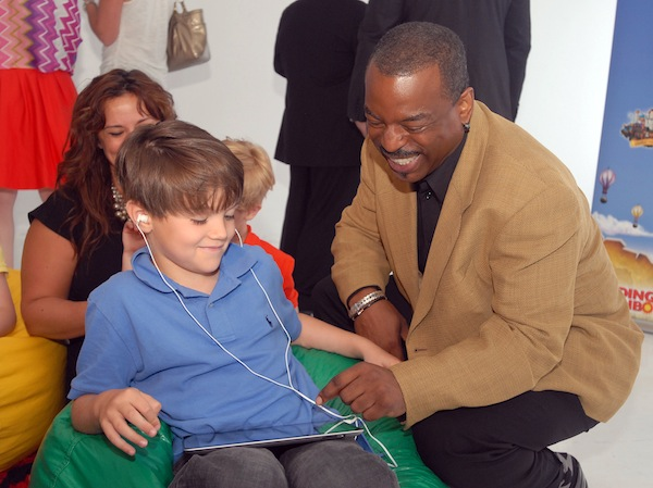 LeVar Burton & 7-year-old Shane Ammon explore the  Reading Rainbow adventure app